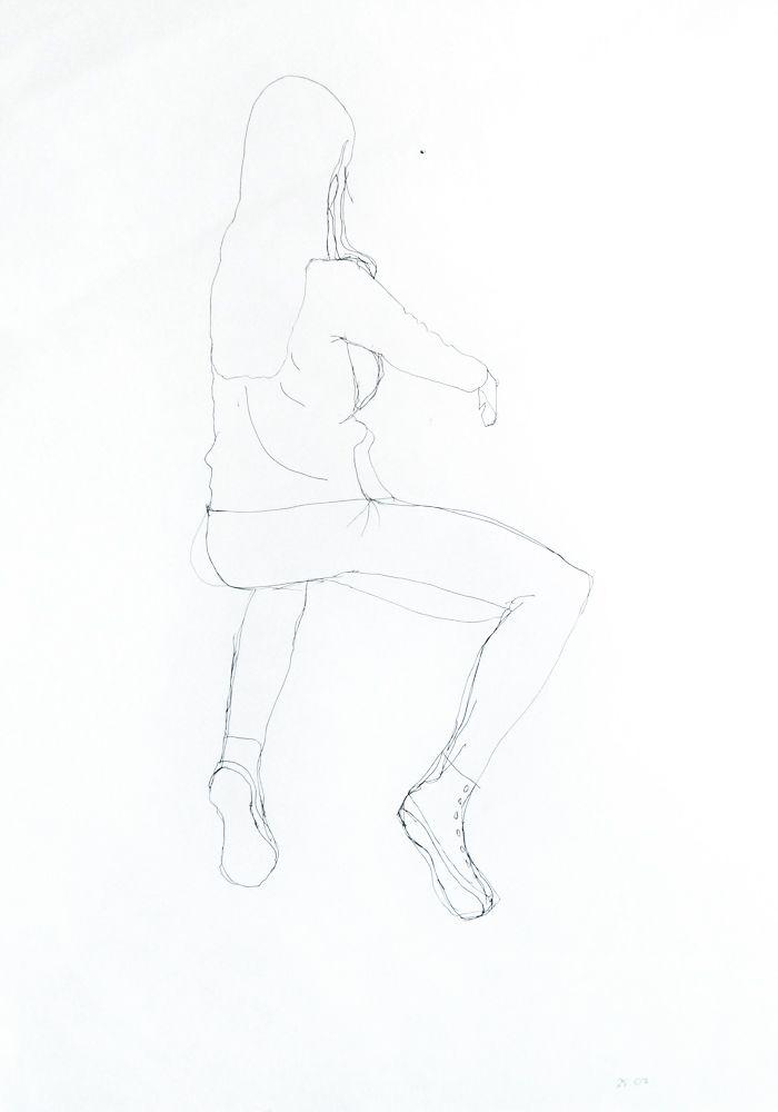 Fátima Sabali. Marcador s/ papel, 59,4 x 42 cm