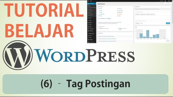 Belajar Wordpress - (5) Tag Postingan / Tags