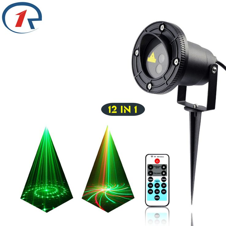 ZjRight IR Remote 12Pattern Red Green laser lights outdoor projection waterproof laser stage light KTV dj bar disco effect light #Affiliate