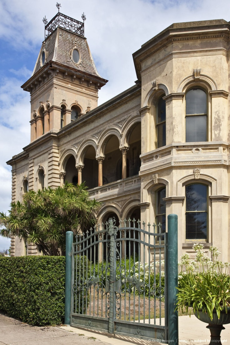 Australia, Victoria. Late 19th century building at Queenscliff.