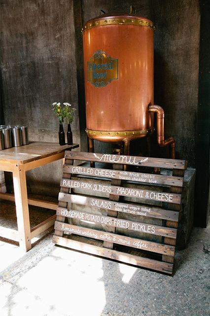 The Beer Flowed At This Wedding Reception — In A Brewery #refinery29  http://www.refinery29.com/lover-ly/54#slide10