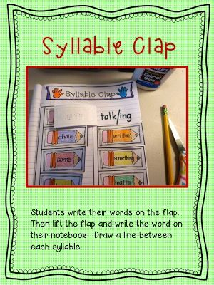 1000+ images about syllables on Pinterest | Decoding, Activity books ...