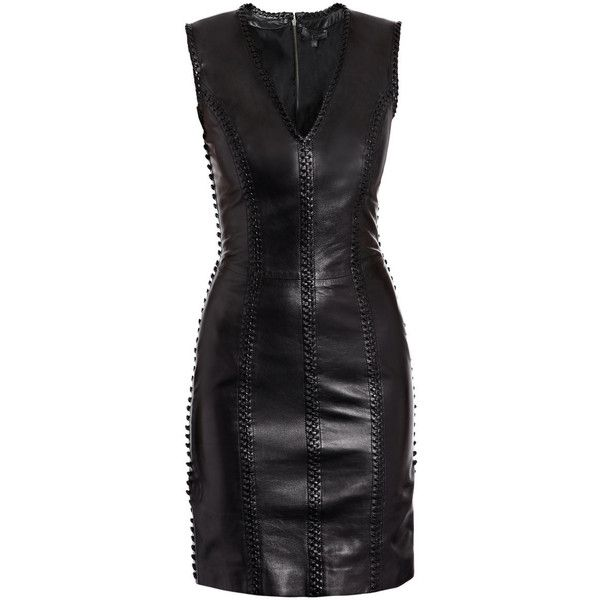 Alexander mcqueen dresses BLACK ($3,420) ❤ liked on Polyvore featuring dresses, vestidos, black, short dresses, leather cocktail dress, alexander mcqueen, leather corset and leather mini dress