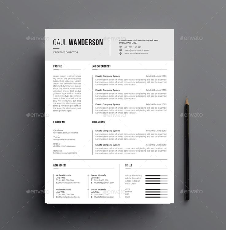 21 best Creative CV Templates [Download] images on Pinterest
