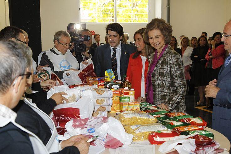 Banco de alimentos. La Reina ha inaugurado hoy las nuevas instalaciones del Banco de Alimentos de Madrid en el sur de la Comunidad, desde donde, gracias a la Fundación que lleva su nombre, un centenar de voluntarios distribuirá cada día unos 8.000 kilos de productos alimentarios entre 68 entidades benéficas. Acompañada por la ministra de Sanidad, Servicios Sociales e Igualdad, Ana Mato, y el alcalde de Alcorcón, David Pérez, la Reina ha visitado las nuevas oficinas, que diversas empresas…