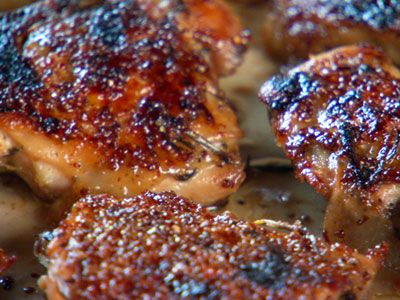 Baked Chicken with Honey-Whole Grain Mustard Glaze, Recipe from Mad ...