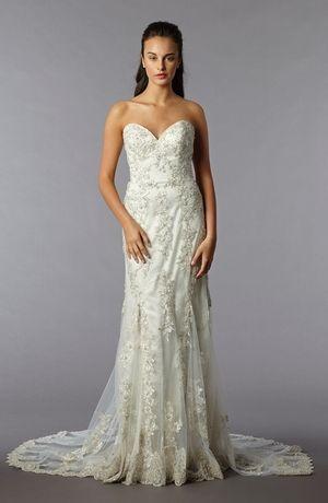 Danielle Caprese - Sweetheart Sheath Gown in Beaded Lace