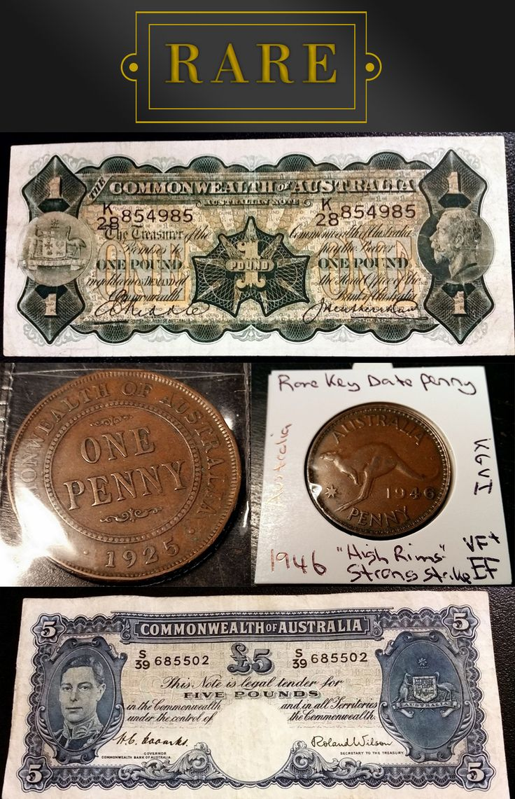 These rare banknotes and coins are all UNRESERVED and will be going under the hammer TONIGHT at 7:00 pm!