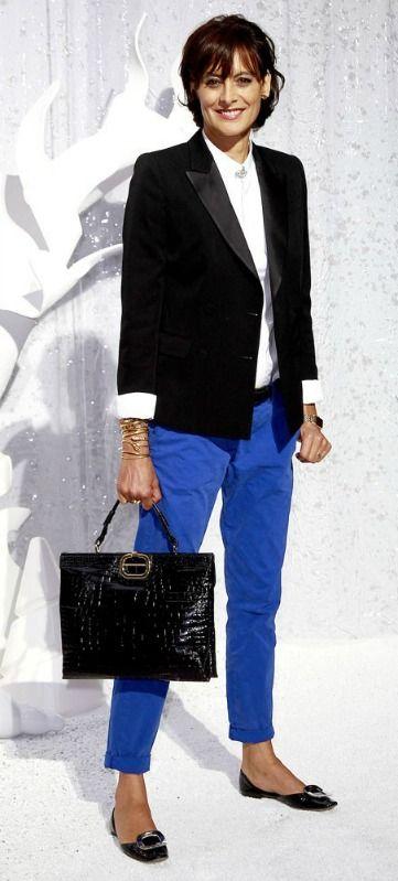 Ines-de-la-Fressange_colored jeans
