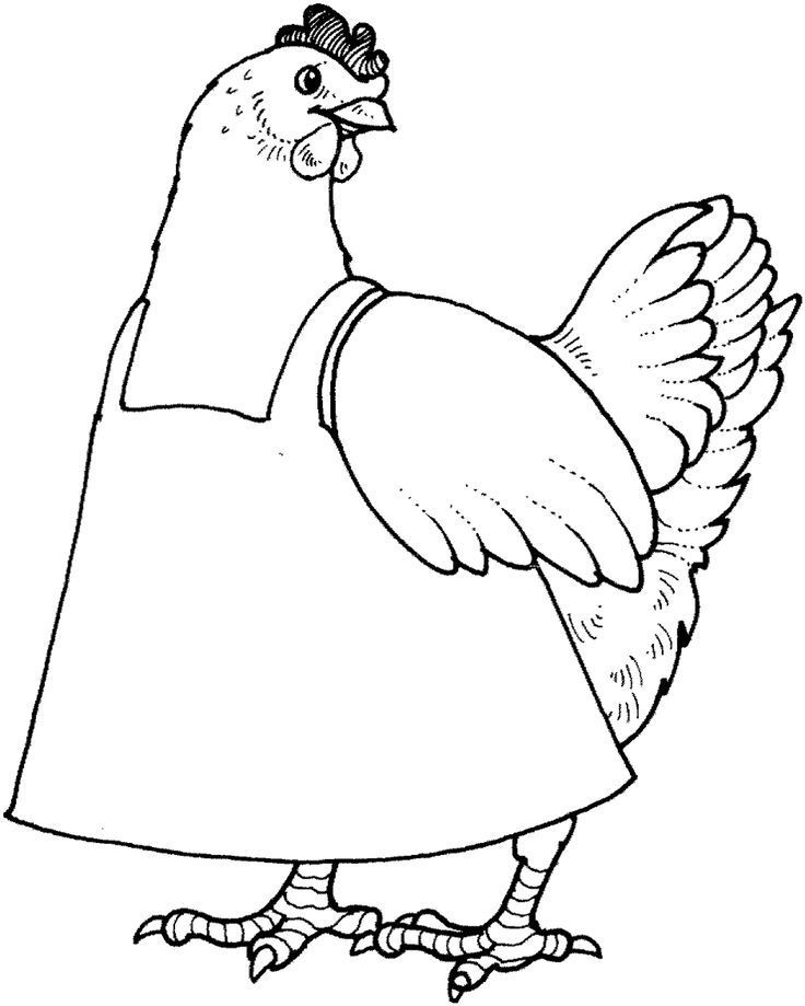 - The Little Red Hen Coloring Pages Habit 3: Put First Things First |…  Chicken Coloring, Little Red Hen, Chicken Coloring Pages