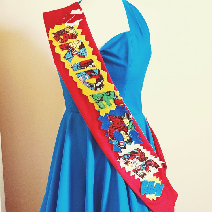 Marvel inspired hen party sash - comic book marvel avengers geeky hen party accessories