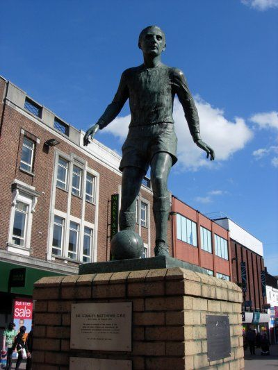 The birth on this day 1st February, 1915 of Sir Stanley Mathews, often regarded as one of the greatest football players.  He is the only player to have been knighted while still playing.   Sir Stanley Matthews statue in Hanley, Staffordshire,England