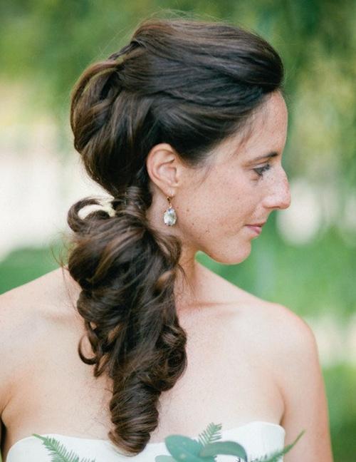 side pony - maid of honor hair ideas!
