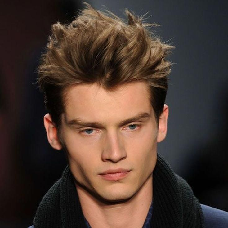 Pictures of Men's Haircuts with Short Sides and A Long Top: Spiked Top