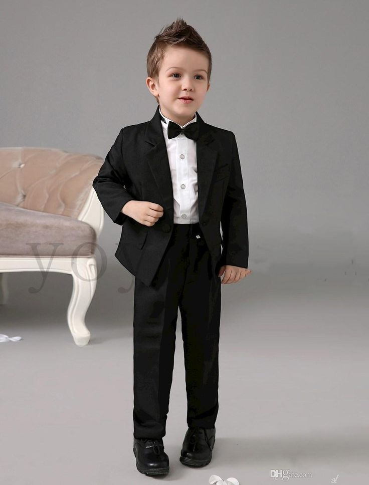 Formal Wear Kids Four Pieces Luxurious Black Ring Bearer Suits Cool Boys Tuxedo With Black Bow Tie Kids Formal Dress Boys Suits Fashion Kids Suit Kids Occasion Wear & Formal Wear From Llyanqing666, $71.21| Dhgate.Com