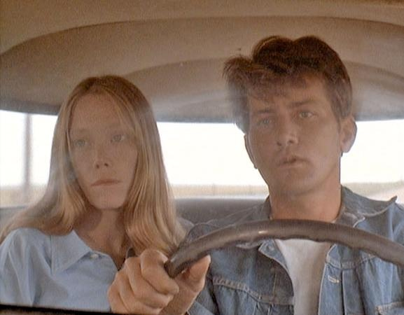 // Badlands! Written & directed by Terrence Malick, with Sissy Spacek and Martin Sheen.
