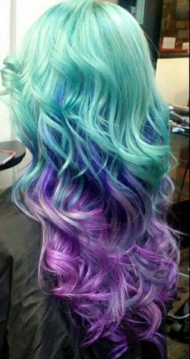 Hey April, I think this is sort of a basis of the colors I want my hair to be when we do that bottom layer. Like the purple is good, with another shade of it but darker. Then of the blue, but again, a different shade. And that green, plus a way darker shade. I really want the colors to pop, so I assume besides the highlights(we don't have to highlight the bottom layer) we make the bottom layer an almost white blonde, then a follow up appt to do the colors. Make sense? I'll explain it more in…