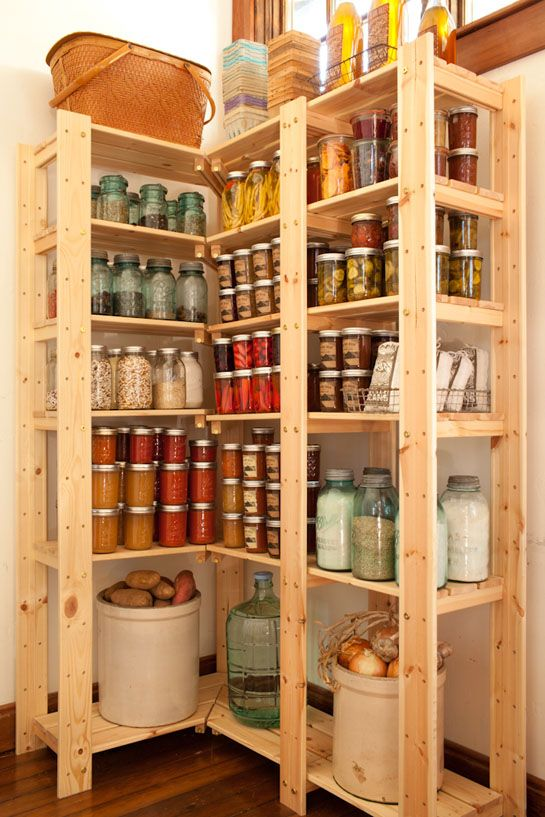 67 best open shelves in the kitchen love images on for Best pantry shelving system