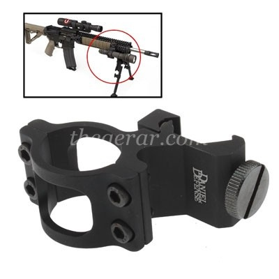 Hard Anodized Aluminum Daniel Defense Rail Mount Offset Flashlig