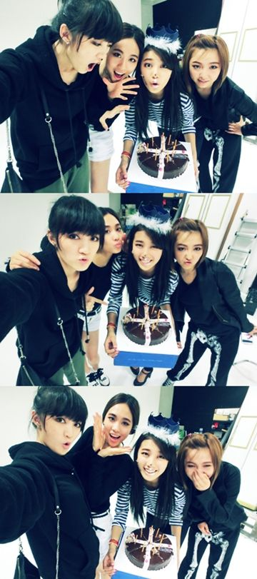miss A members hold a surprise birthday party for Suzy