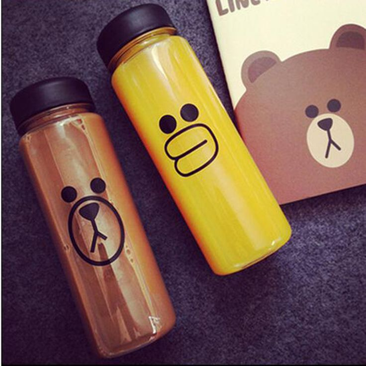 Sport Style My Portable Bottle Clear Sport Bicycle My Water Bottle 500ml Space Cup Bear Bottles