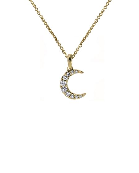 18K Diamond La Luna Necklace