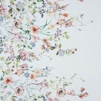 Mood Exclusive La Marche des Fleurs White Stretch Cotton Sateen