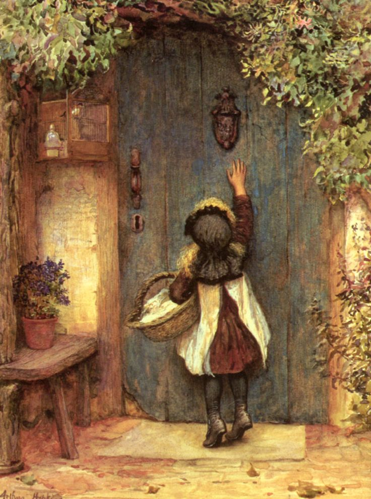 """Arthur Hopkins, """"The Visitor"""".  So many of life's problems could probably be solved with a blue door."""