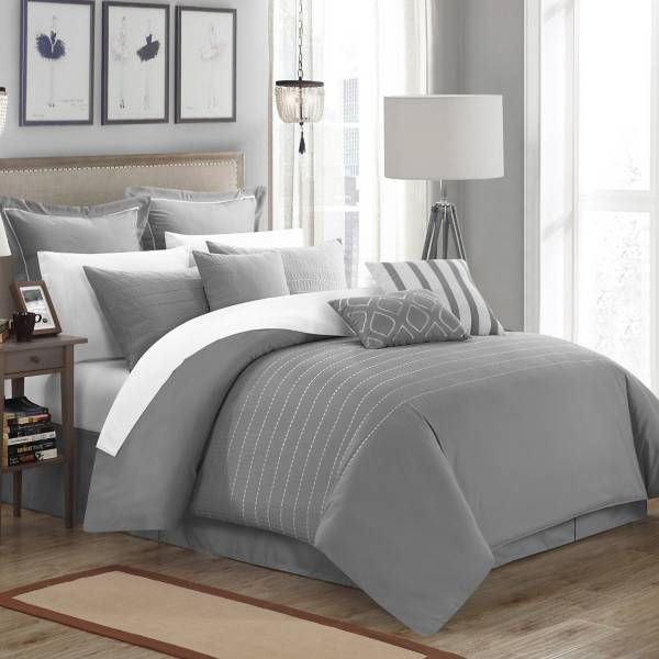 Grey Comforter...add yellow accents