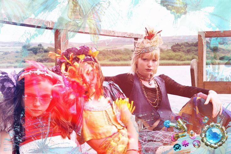 'Girlie Grunge' Photography: Blair Alexander Massie (B.A Marauder) blairalexander.tu... | Concept/Design/Styling/Makeup: Alice Halliday etsy.com/shop/alicehalliday | Hair: Faye Mazani | Models: Clara Kearney, Tara Farley & Alice Halliday | Location: Liss Ard Estate, Skibbereen, Co. Cork, Ireland