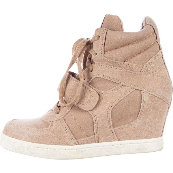 Pre-owned Ash Wedge Sneakers ($75) ❤ liked on Polyvore featuring shoes, sneakers, brown, ash footwear, ash sneakers, ash shoes and ash trainers