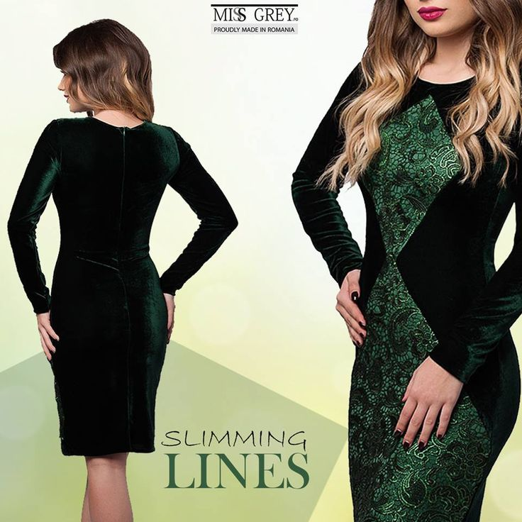 Velvet is autumn's star! The green Penelope dress will show off your feminine figure, giving you a sensual and refined look
