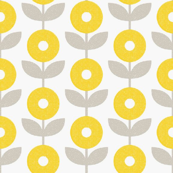 """Mod Floral Removable Wallpaper in Gold """"The Sarah Hearts Collection"""""""