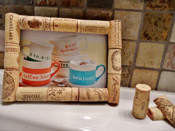 Wine Cork Frame / Corkboard by ScatteredTreasures on Etsy, $10.00