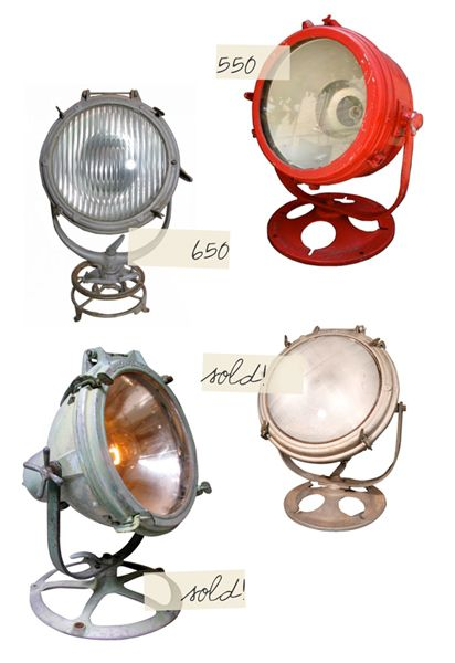 Crouse Hinds spotlights! They're super pricey online, so I'm keeping an eye out at the flea markets. FUN FACT: Crouse was only 25 when he started the company in 1894. Insanity!