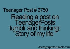 "Reading a ""teenager post"" and thinking that's still soooo me but I'm way past my teenage years so why is it called a teenage post?! Lmao wooorrrrd ✌️"