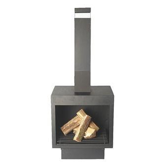 Sfeerhaard metaal zwart 137x50x49 cm | Vuurkorven & terraskachels | Barbecues & vuurkorven | Tuin | KARWEI