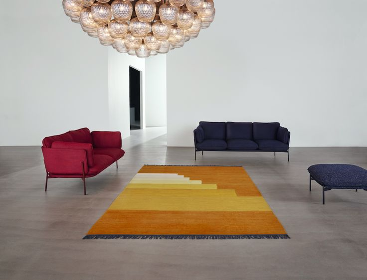 Blown Pendant by Samuel Wilkinson / Cloud Sofa by Luca Nichetto / Another Rug by All The Way to Paris.