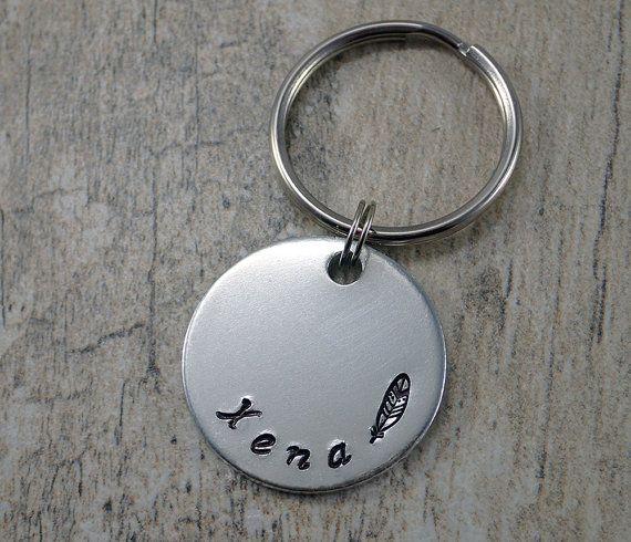 Plain pet Tag - Simple Pet Tag - Aluminum Pet Tags - Feather Pet Tag - Smooth Pet Tags - Dog ID Tags - Dog Tags - Cat Tags - Custom Pet Tags