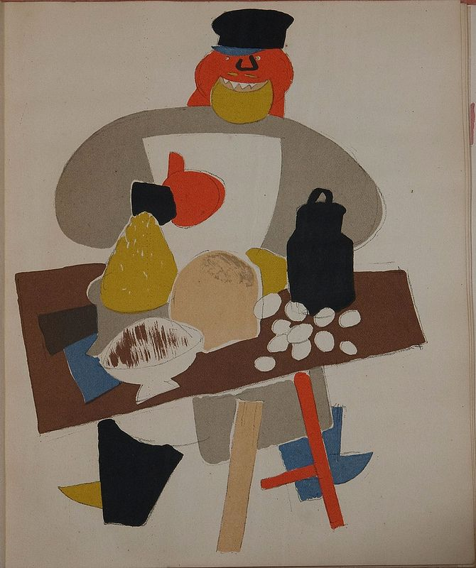 Russian placards, 1917-1922 (Vladimir Lebedev) - A marauder at a stall with wares (the struggle against sale in the streets)   da peacay