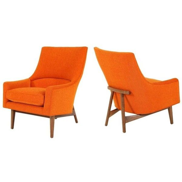 Pair Of Cedrick Lounge Chairs ($7,200) ❤ liked on Polyvore featuring home, furniture, chairs, accent chairs, brown, lounge chairs, pair accent chairs, upholstered chairs, yard furniture and upholstered lounge chair