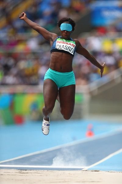 Fatimata Brigitte Diasso of Côte d'Ivoire competes in Women's Long Jump - T11 during day 9 of the Rio 2016 Paralympic Games at the Olympic Stadium on September 16, 2016 in Rio de Janeiro, Brazil.