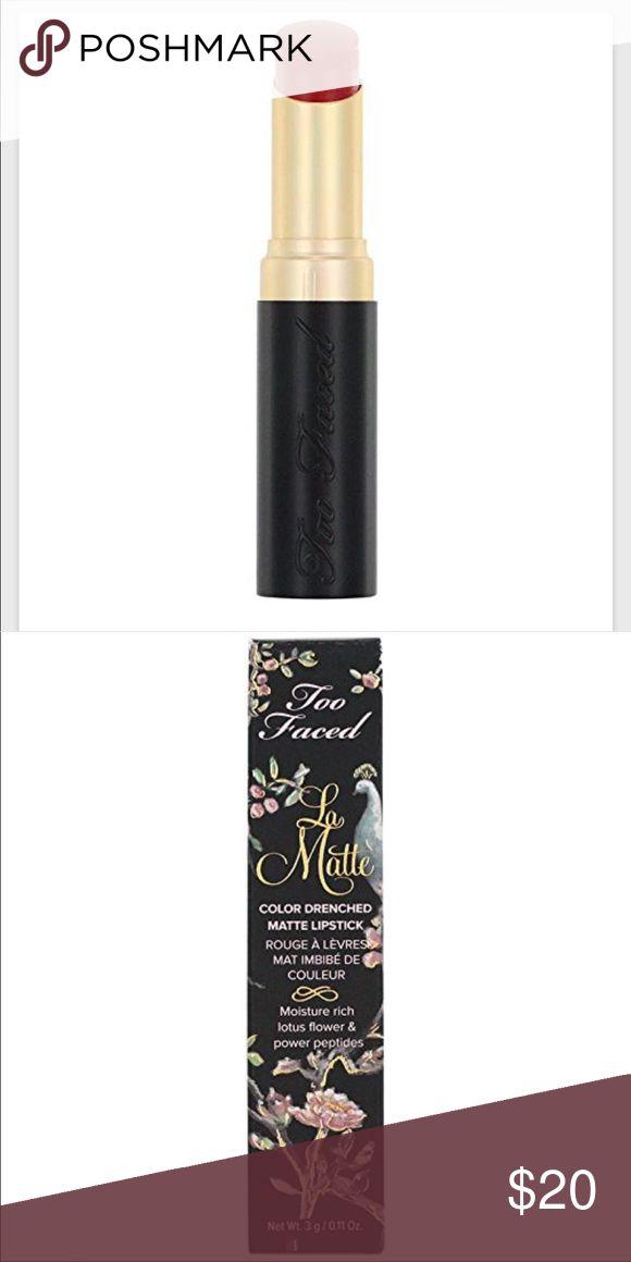 💄💄NIB!!Too Faced La Matte  Lipstick💄💄$20 each. ❤️️NEW IN BOX!!!❤️️BEAUTIFUL...Too Faced La Matte Lipstick - Rebel Heart❤️️❤️️❤️️, 💗💗💗 Pitch Perfect 💗💗💗 Too Faced Makeup Lipstick