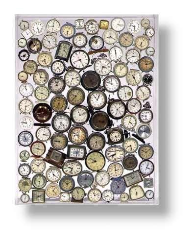 accumulation dans les œuvres d'art | Arman - vers 1960 - accumulation de montres