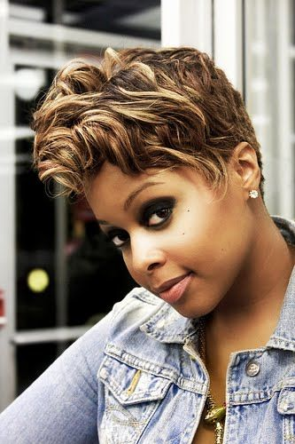 Chrisette Michele short sassy hair