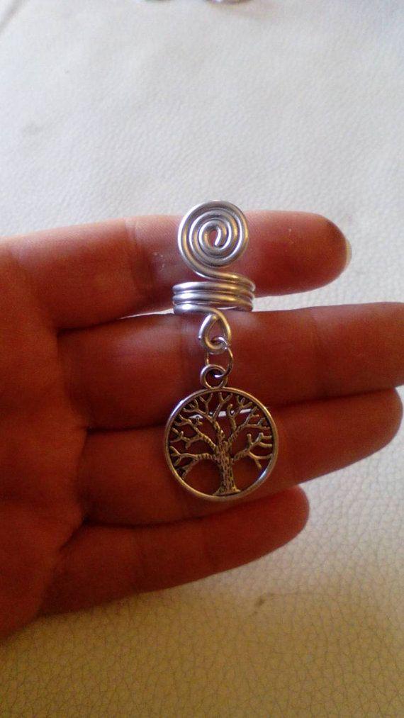 Tree of life dread bead. Silver dreadlock by Miasdreadlockbeads