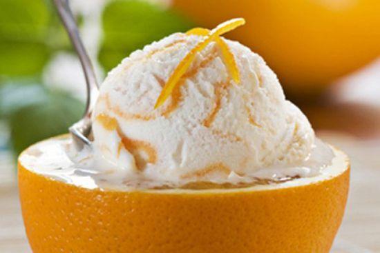 холодный апельсиновый десерт