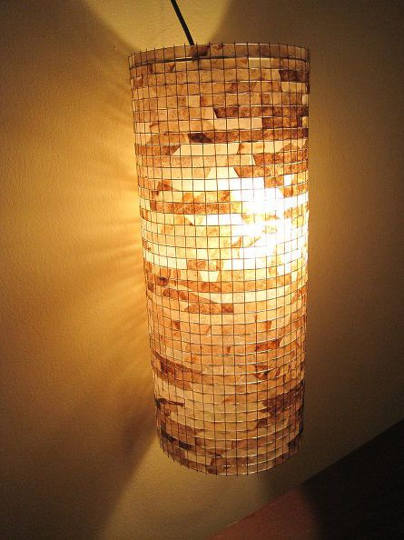 lighting from recycled coffee filters, home decor, lighting, repurposing upcycling