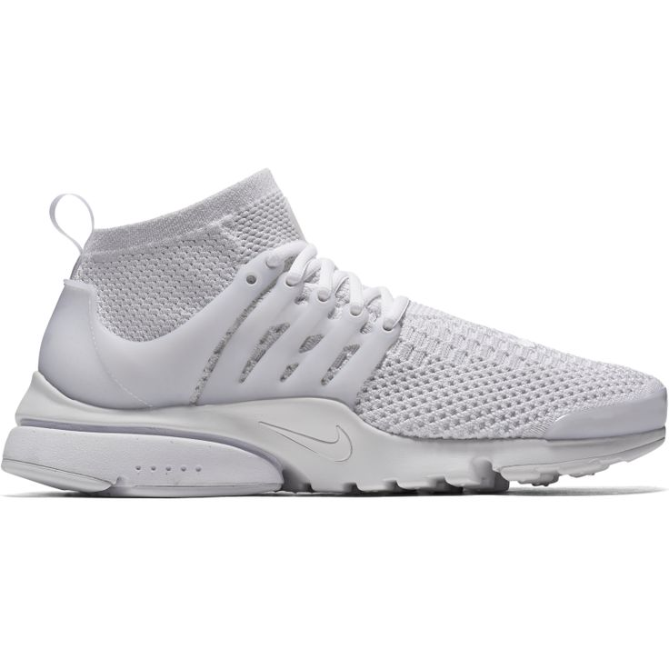 AIR PRESTO FLYKNIT ULTRA  This mid-top rework elevates a popular runner with modern innovation. Crafted with eye-catching Flyknit construction, it uses an iconic TPU cage for midfoot support, while cut-outs in the outsole offer 360 degrees of breathability. #nike #nikeflyknit #sefton #newarrivals