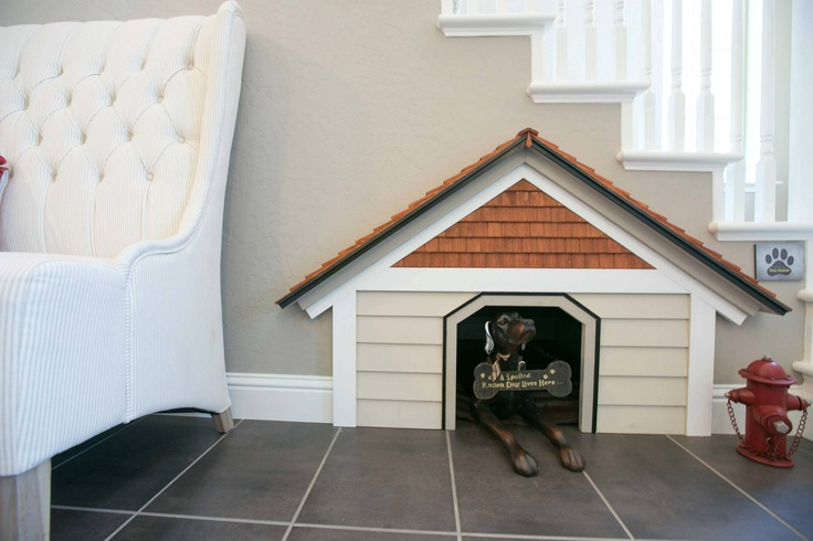 Great Idea For Family Pets Indoor Dog House Built In